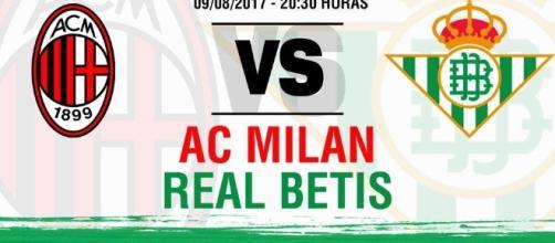 AC Milan-Real Betis, el día 9 de agosto en Catania - realbetisbalompie.es