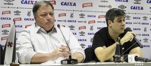 Anderson Barros e Euriquinho, diretor e vice-presidente do Vasco