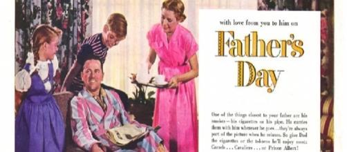 Antiga publicidade do Dia dos Pais, nos Estados Unidos