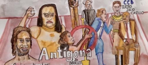 Antígona se presenta en el teatro Julio Castillo, hasta el 27 de agosto.