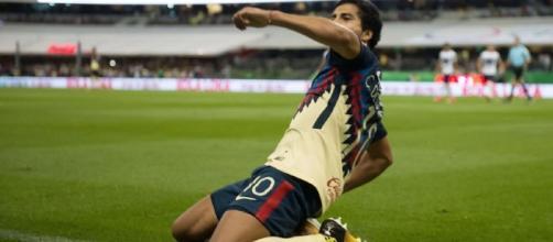 Cecilio festeja el gol del triunfo.