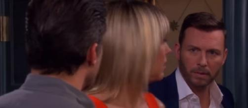 Days of our Lives: Nicole, Brady, and Eric. (Image via YouTube screengrab)