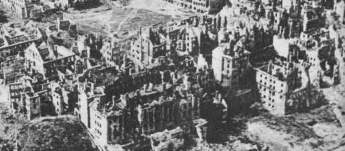 Destroyed Warsaw, the capital of Poland, January 1945 by M. Swierczynski via Wikimedia Commons