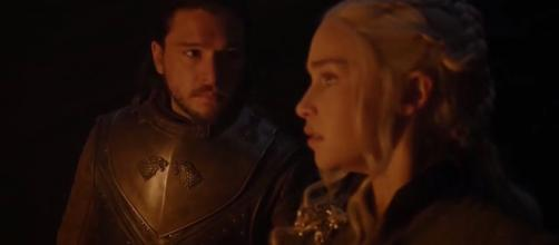 Jon and Daenerys in the dragonglass cave (Source: GameofThrones via YouTube)