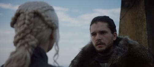 Jon Snow meets Daenerys Targaryen. Screencap: Doran Martell via YouTube