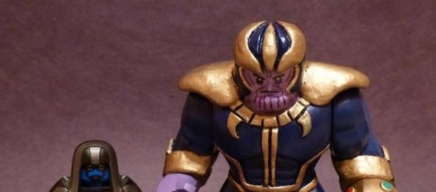Best Marvel Villains of All Time - Image source Custom Lego Big Fig Thanos (Flickr)