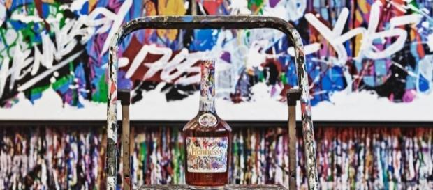 Hennessy limited edition bottle from artist JonOne (used with permission from Moet Hennessy)