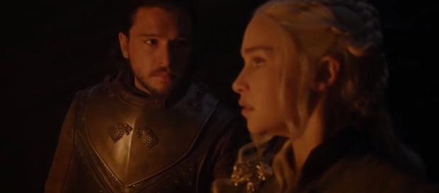 Jon and Daenerys in the dragonglass cave (Source: GameofThrones via YouTube)