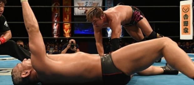 Okada empató contra Suzuki, en una de las mejores luchas del torneo. njpw.co.jp.