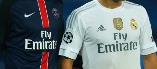 Foot - Illustration Maillot PSG / Real Madrid - Sponsor Fly ... - madeinfoot.com
