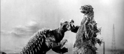 Godzilla_Raids_Again_(1955)_Godzilla_vs_Anguirus | CCO Public Domain Wiki