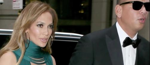 J.Lo and Alex Rodriguez attended a wedding in New York for the first time. Image via YouTube/Enews