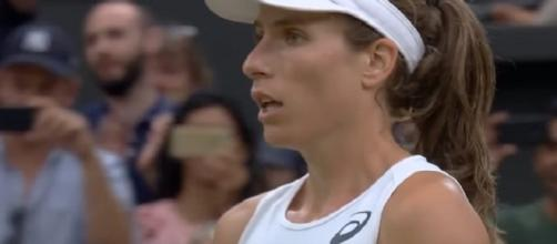 Johanna Konta during 2017 Wimbledon/ Photo: screenshot via Wimbledon official channel on YouTube