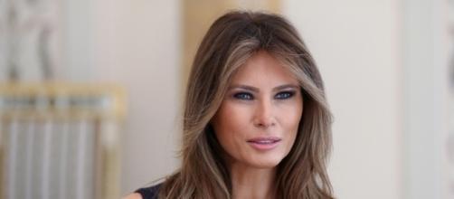 Melania Trump in Poland: See Her Colorful Dress & Purple Pumps ... - footwearnews.com