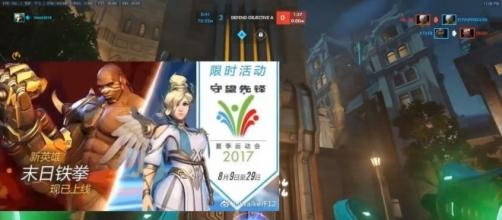 'Overwatch' Summer Games 2017 Mercy Nike skin leaked ahead of release(Hammeh/YouTube Screenshot)