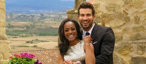 """Rachel Lindsay picked Bryan Abasolo as her lucky suitor in """"The Bachelorette"""" finale. (Facebook/The Bachelorette)"""