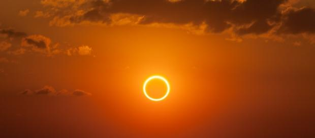 "A ""ring of fire"" during an annular eclipse 