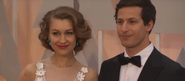 Andy Sanberg, Joanna Newsom and The Lonely Island Red Carpet Fashion (Oscars 2015) via ScreenSlam You Tube Channel