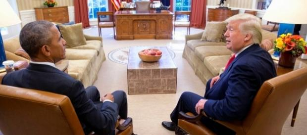 Barrack Obama and Donald Trump via Flickr
