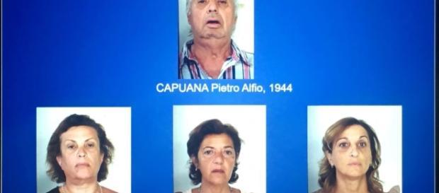 Il 'santone' Pietro Capuana e le sue tre 'apostole' finiti agli arresti per associazione per delinquere e violenza sessuale.