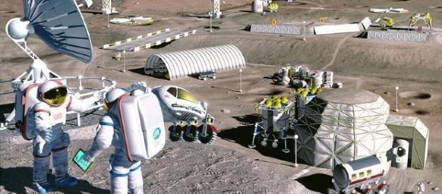 Moon colony concept (Courtesy NASA)