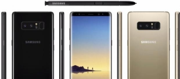 More details about Samsung's Galaxy Note 8 has surfaced online in the form of leaked images -- sakitech/YouTube