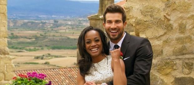 "Rachel Lindsay and Bryan Abasolo are Instagram official after ""The Bachelorette"" finale. (Facebook/The Bachelorette)"
