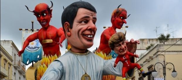 Raffigurazione allegorica di Matteo Renzi al carnevale di Putignano del 2015