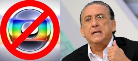 """Galvão Bueno comete gafe e chama novela da Globo de """"Armação""""."""