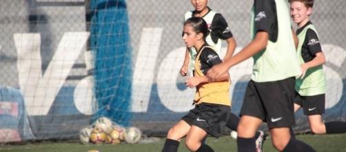Ana Julia Mendonça durante gli allenamenti