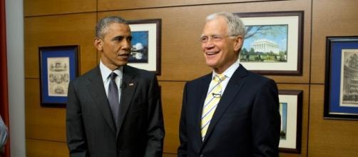 David Letterman with Barack Obama | credit, obamawhitehouse.archives.gov
