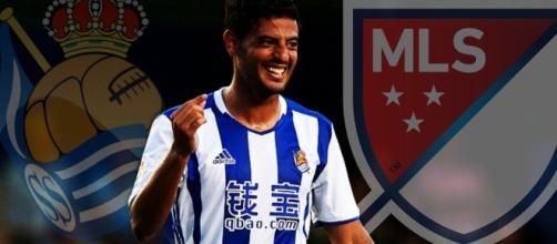 Después de 6 años jugando con la Real Sociedad, Carlos Vela llega a la liga MLS (vía Twitter - @InvictosSomos).
