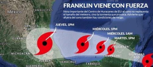 """Franklin"""" golpea Yucatán; Protección Civil mantiene alerta roja en ... - sinembargo.mx"""