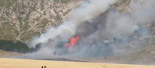 Incendio in Abruzzo causato da un barbecue