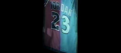 Jordan's retired number - Oldschoolbball via YouTube (https://www.youtube.com/watch?v=vyr_YEH827g)
