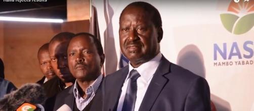 Kenya opposition leader - Raila Amolo Odinga Image viaTuko/Tuco/Youtube Screen cap https://www.youtube.com/watch?v=lHCTOKGy9eY