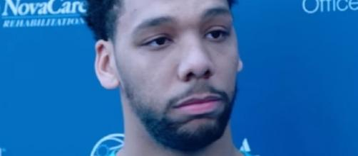 Last season, Jahlil Okafor's scoring output dipped to 11.8 points and 4.8 boards. - Philadelphia 76ers/YouTube