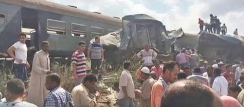 Train collision in Alexandria, Egypt. - YouTube/nICE TUBE Channel