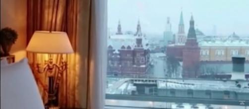 View from Ritz-Carlton in Moscow described in Dossier / [Image screenshot from Inside Edition via YouTube:https://youtu.be/9b38CMTpE6c]
