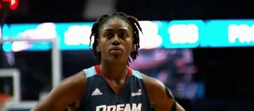WNBA All-Star Tiffany Hayes and the Atlanta Dream host the Minnesota Lynx on Tuesday night. [Image via WNBA/YouTube]