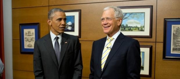 David Letterman with Barack Obama   credit, obamawhitehouse.archives.gov