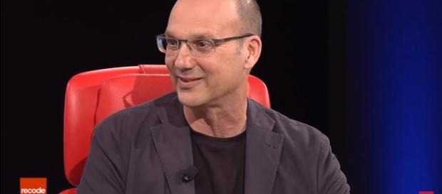 Former Google executive, Andy Rubin, at the Essential phone launch. [Image via Youtube/Recode]