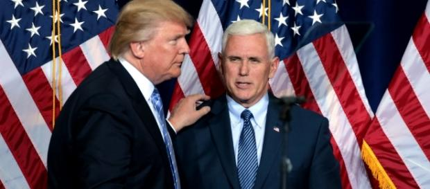 It's not clear whether Pence is rooting for 2020 or if he's anticipating Trump's early exit. [Image via Wikimedia Commons]