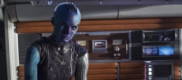 "Karen Gillan's Nebula has gone through much character development throughout both ""Guardians of the Galaxy"" films. Youtube Screen grab]"