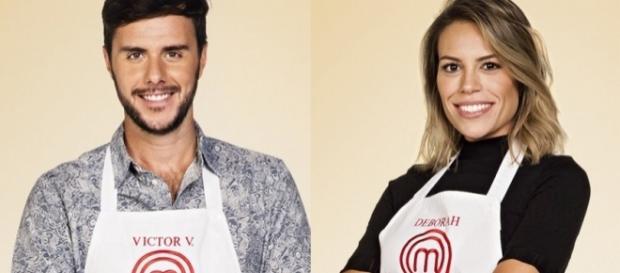 Participante sorriu ao ver o colega Victor V. ser criticado pelos chefs (Foto: Divulgação/Band)