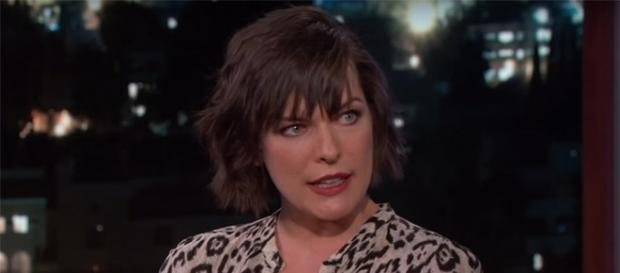 """Resident Evil"" star Milla Jovovoich is taking on another massive sci-fi role. (YouTube/Jimmy Kimmel Live)"