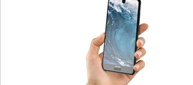 The Aquos S2 succeeds another bezel-less handset from Sharp, the Aquos Crystal. (via PhoneTech/Youtube)