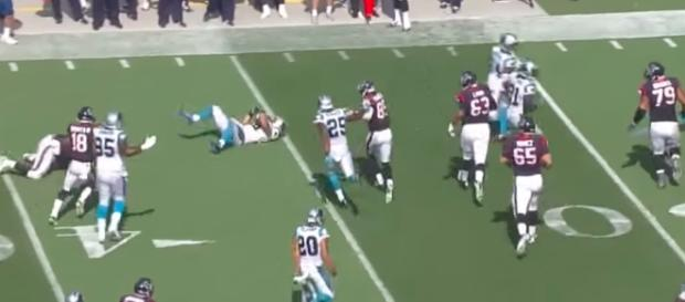 The Texans and Panthers collide in NFL preseason action on Wednesday night. [Image via NFL/YouTube]