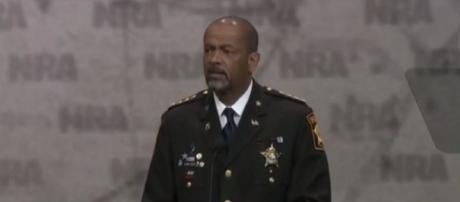 "PRO-TRUMP Milwaukee County Sheriff David ""COON"" Clarke Has RESIGNED [Image via Youtube: Hezakya Newz & Music]"