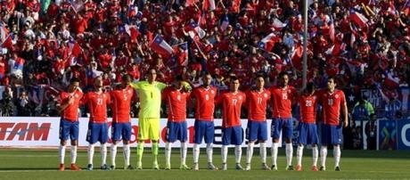 Seleccion chilena en el estadio nacional